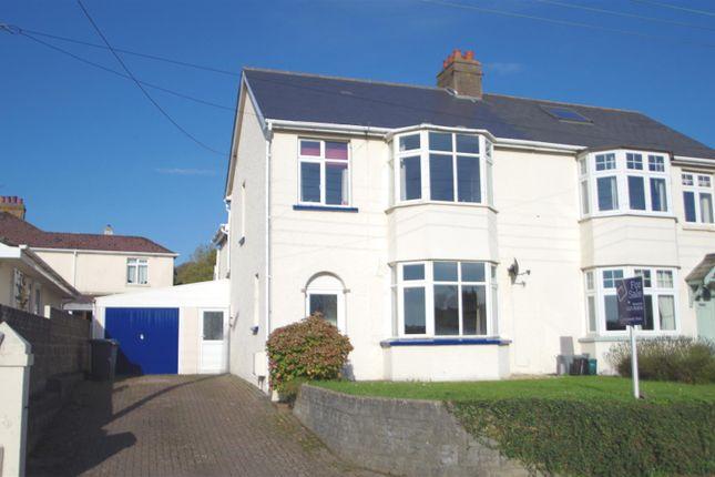 Semi-detached house for sale in Saunton Road, Braunton