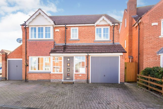 Thumbnail Detached house for sale in Reynolds Chase, Wigston