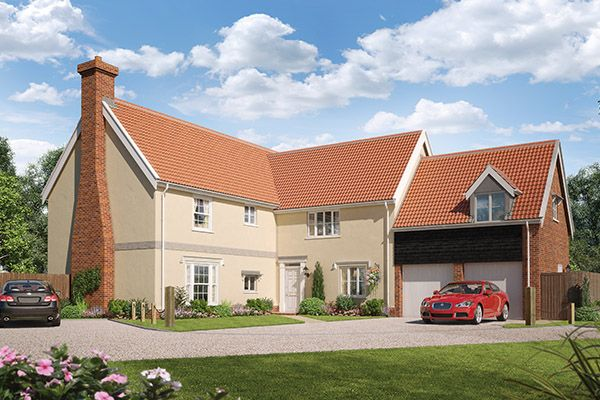 Thumbnail Detached house for sale in Ashe Road, Tunstall, Woodbridge