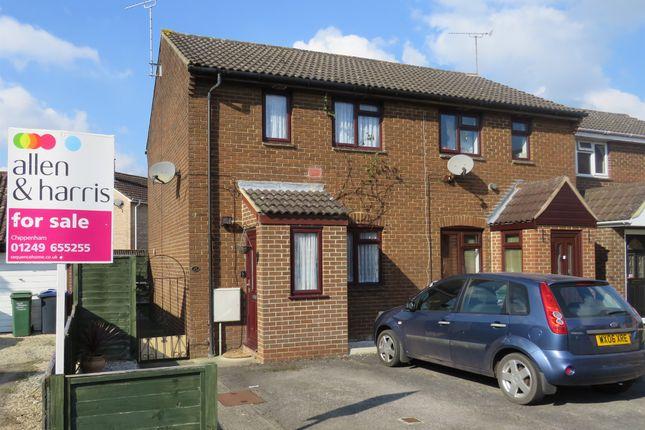 Thumbnail End terrace house for sale in Castlehaven Close, Chippenham