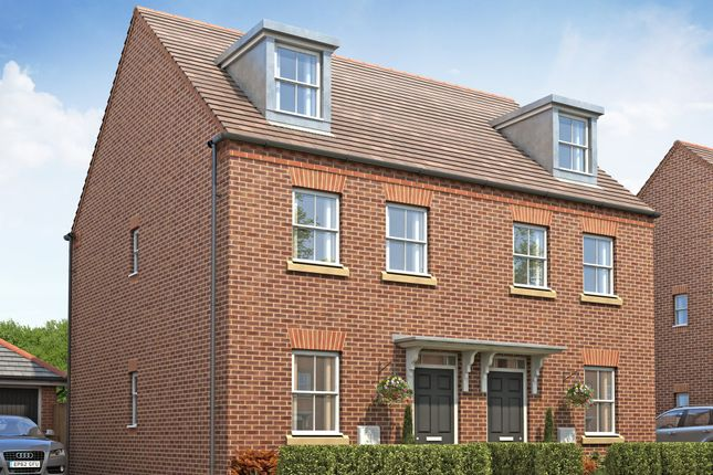 "Thumbnail Semi-detached house for sale in ""Kirkwood"" at Whites Lane, New Duston, Northampton"