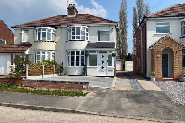 Thumbnail Semi-detached house for sale in Longford Road, Cannock WS111Ne