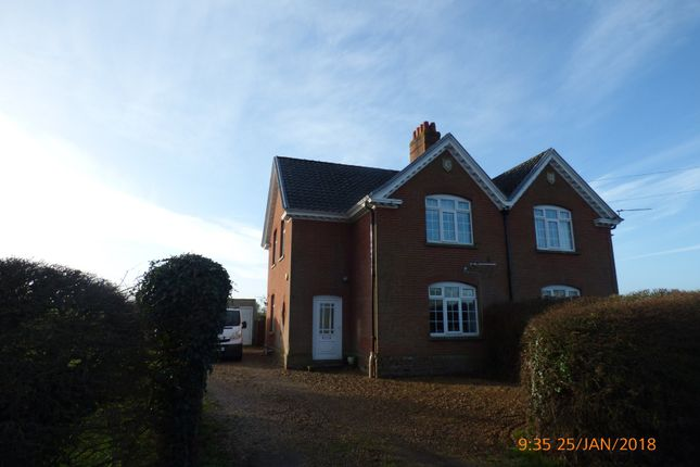 Thumbnail Semi-detached house to rent in Norwich Road, Hedenham, Bungay