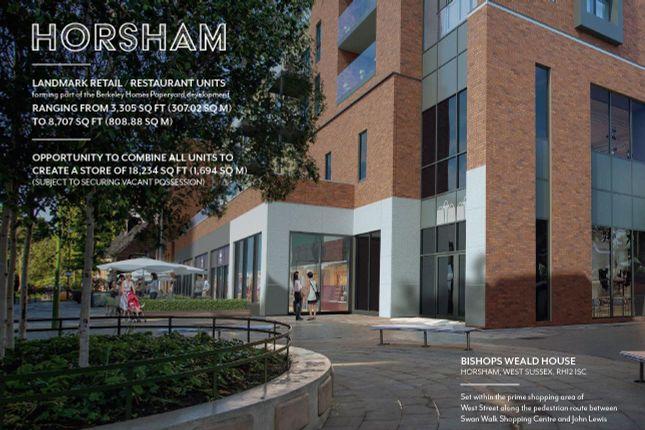 Thumbnail Retail premises to let in Bishops Weald House, Worthing Road, Horsham