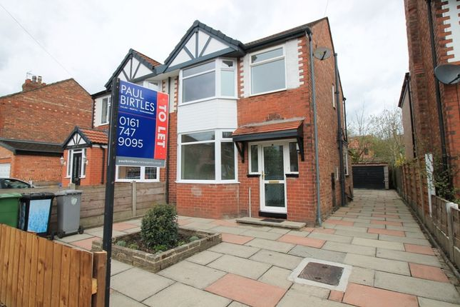 Thumbnail Semi-detached house to rent in Clifton Road, Urmston