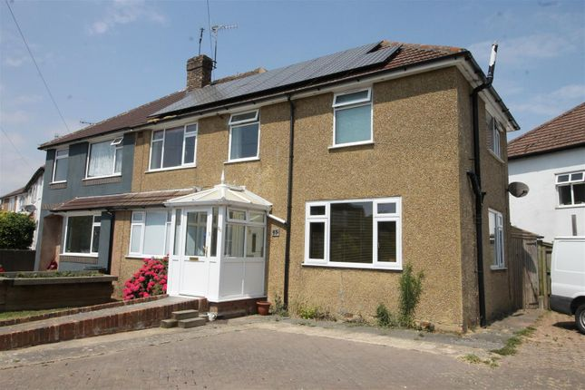 Thumbnail Semi-detached house for sale in Downlands Close, Bexhill-On-Sea