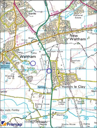 Location Plan of Cheapside, Waltham, Grimsby DN37