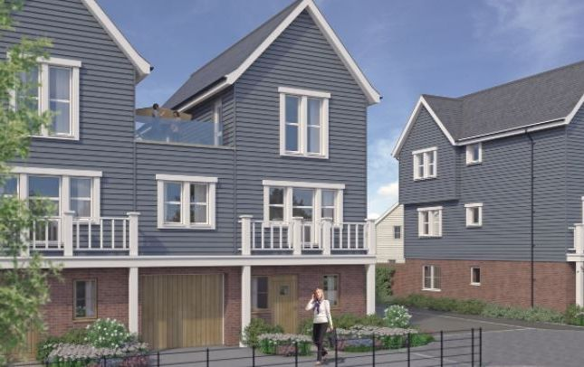 Thumbnail Town house for sale in Beaulieu Heath, Centenary Way, Off White Hart Lane, Chelmsford, Essex