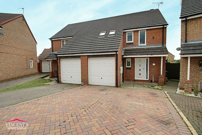Thumbnail Semi-detached house for sale in Darien Way, Leicester