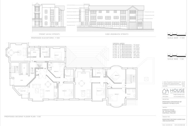 Revision C  Proposed 2nd Plan And Elevations  A1-1