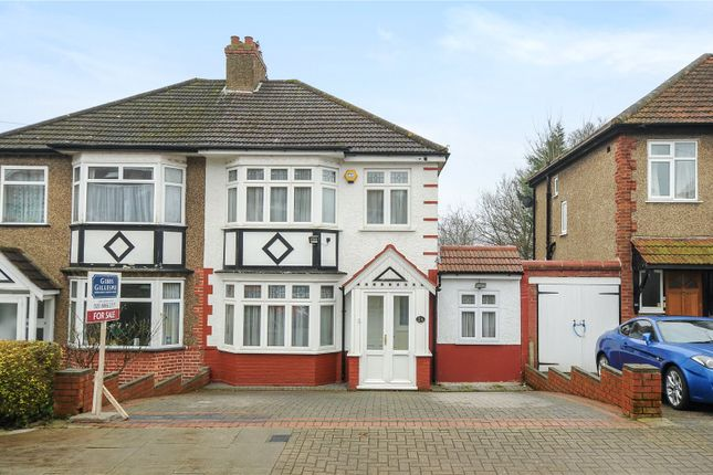 Thumbnail Semi-detached house for sale in Lyndhurst Avenue, Pinner, Middlesex