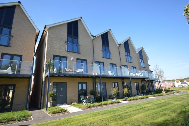Thumbnail End terrace house for sale in Quayside Parade, Rowhedge, Colchester