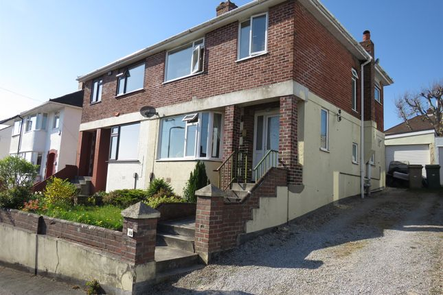 Thumbnail Semi-detached house for sale in Lynwood Avenue, Plympton, Plymouth