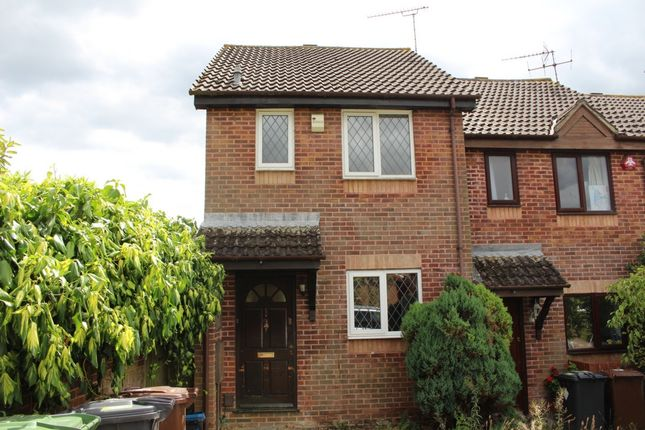 Thumbnail End terrace house to rent in Sawtry Way, Borehamwood