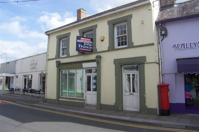 Thumbnail Retail premises for sale in Sycamore Street, Newcastle Emlyn, Carmarthenshire