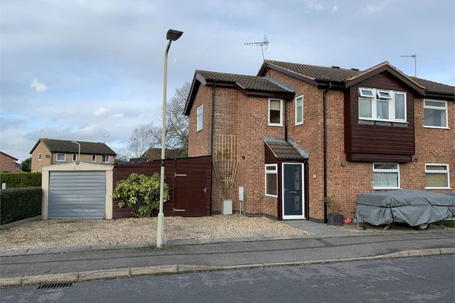 Thumbnail Semi-detached house for sale in Darwin Close, Broughton Astley, Leicester