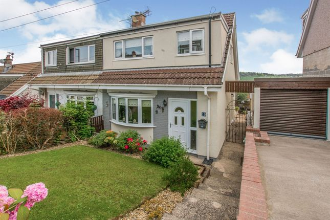 Thumbnail Semi-detached house for sale in Conway Close, Glyncoch, Pontypridd