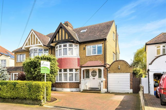 Thumbnail Semi-detached house for sale in Raeburn Avenue, Surbiton, Surrey