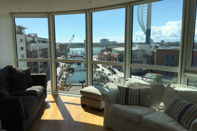 Thumbnail Flat to rent in Gunwharf Quays, Gunwharf Quays, Portsmouth