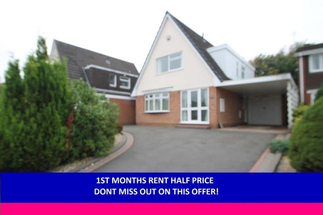 Thumbnail Detached house to rent in Naseby Drive, Halesowen, West Midland
