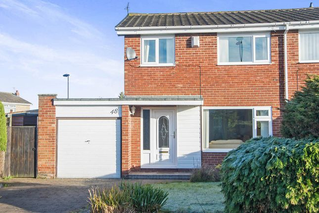 Thumbnail Semi-detached house for sale in Jasmin Avenue, Chapel Park, Newcastle Upon Tyne