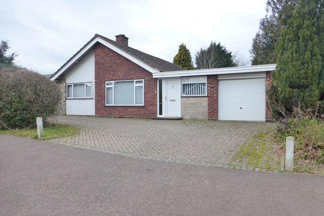 Thumbnail Detached bungalow for sale in Brettingham Avenue, Cringleford, Norwich