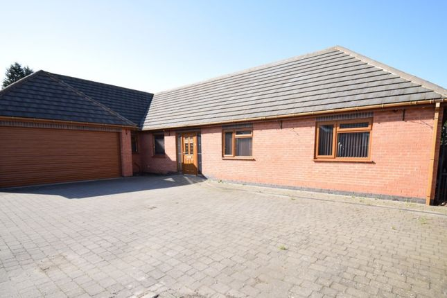 Thumbnail Detached bungalow for sale in Spencefield Gardens, Evington, Leicester