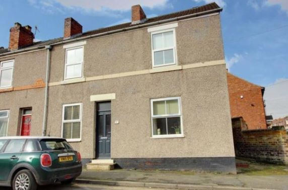 End terrace house for sale in 18 Devonshire Road North, New Whittington, Chesterfield, Derbyshire