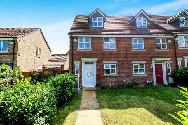 Thumbnail End terrace house for sale in Calke Close, Loughborough