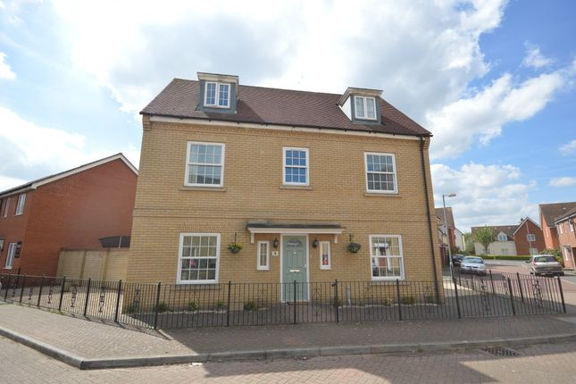 Thumbnail Detached house for sale in Carus Crescent, Highwoods, Colchester