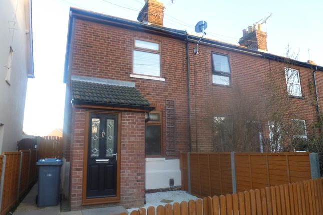 Thumbnail End terrace house to rent in Church Lane, Felixstowe