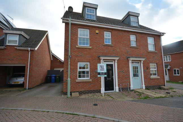 Thumbnail Semi-detached house to rent in Killick Crescent, Carlton Colville, Lowestoft, Suffolk
