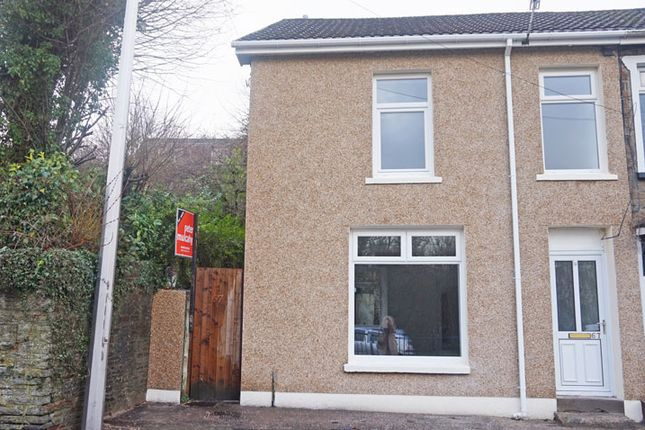 Thumbnail End terrace house for sale in Main Road, Maesycwmmer