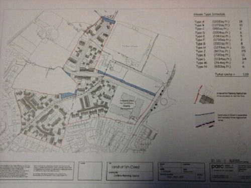 Thumbnail Land for sale in Ty'n Coed, Llangefni