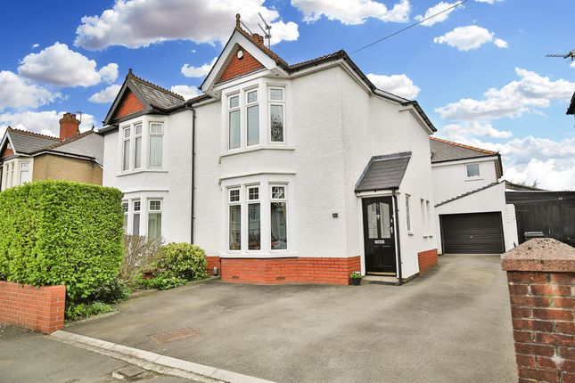 Thumbnail Semi-detached house for sale in Foreland Road, Whitchurch, Cardiff