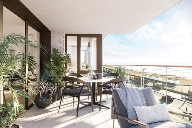 Thumbnail Flat for sale in Calista, West Parade, Worthing, West Sussex