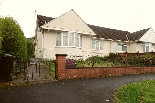 Thumbnail Semi-detached bungalow for sale in Six Bells Estate, Heolgerrig, Merthyr Tydfil