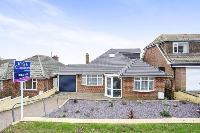 Thumbnail Bungalow for sale in Rodmell Avenue, Saltdean, East Sussex, .