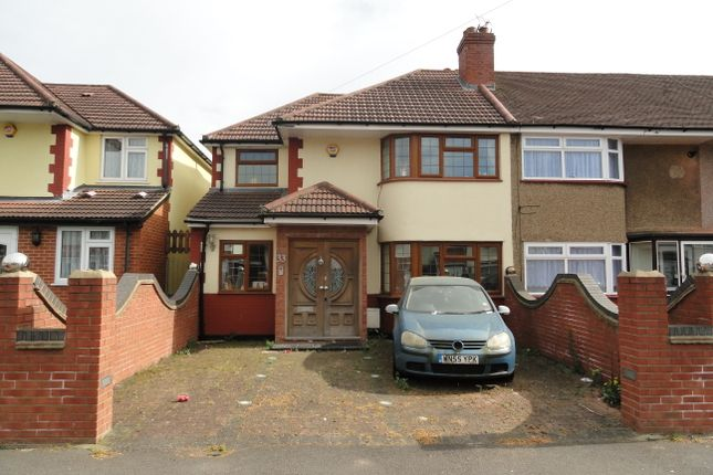 Thumbnail End terrace house for sale in Merton Avenue, Northolt