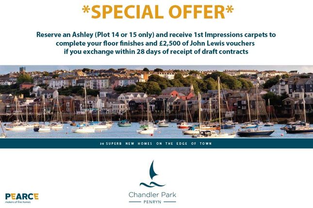 Thumbnail Detached house for sale in Ashley At Chandler Park, Penryn