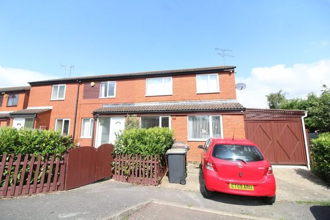 Thumbnail End terrace house to rent in Sparrow Close, Luton