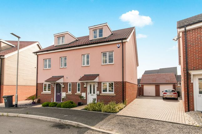 4 bed semi-detached house for sale in Valley View Drive, Great Blakenham, Ipswich