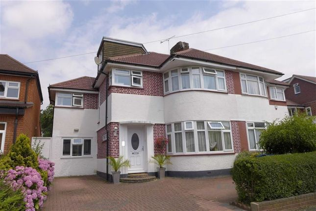 Thumbnail Semi-detached house for sale in St Edmunds Drive, Stanmore, Middlesex