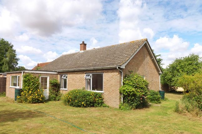 Thumbnail Detached bungalow for sale in Church Lane, Wicklewood, Wymondham