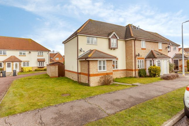 Thumbnail End terrace house for sale in Constance Close, Witham, Essex