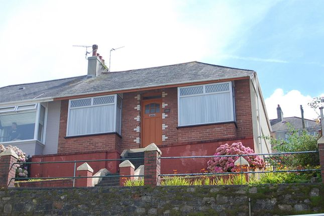 Thumbnail Semi-detached bungalow for sale in Coleridge Road, Plymouth