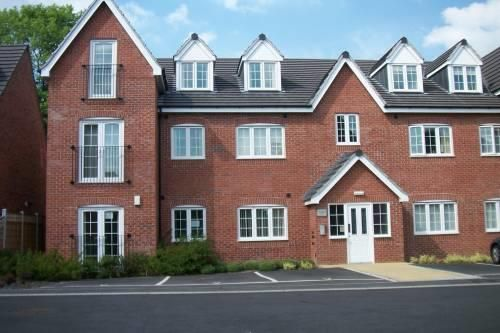 Thumbnail 2 bed flat to rent in Princeton House, Old Pheasant Court, Chesterfield