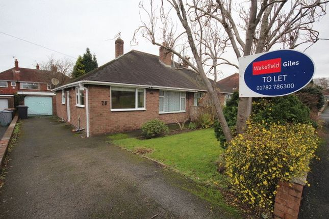 Thumbnail Bungalow to rent in Joseph Crescent, Alsager, Stoke-On-Trent