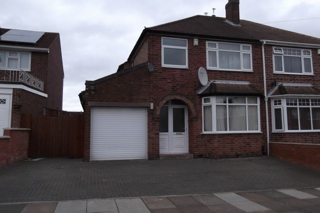 Thumbnail Semi-detached house to rent in Avebury Avenue, Leicester