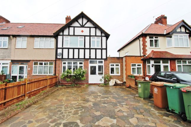 Thumbnail End terrace house to rent in Caldbeck Avenue, Worcester Park
